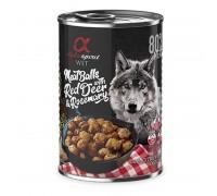 Alpha Spirit konservai šunims vištienos rutuliukai su elniena ir rozmarinais, 400g