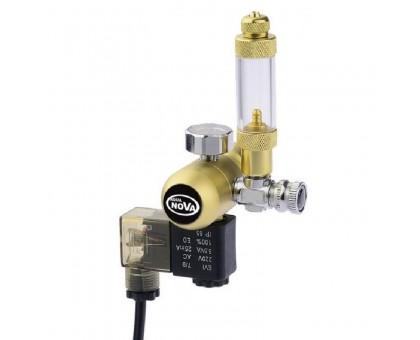 Aqua Nova Gold CO2 reduktorius su skaičiuotuvu ir solenoidiniu vožtuvu