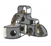 Croci Parkour draskyklė-namas katėms, pilkas, 122x122x112cm