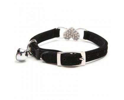 Antkaklis katėms ir šunims Velvet Black; 20-25cm