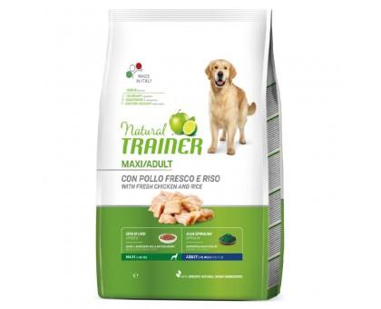Trainer Natural Adult Maxi Chicken sausas maistas suaugusiems šunims didelių veislių, vištiena; 12kg