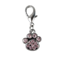 Pakabukas antkakliui Letena, su rožiniais kristalais
